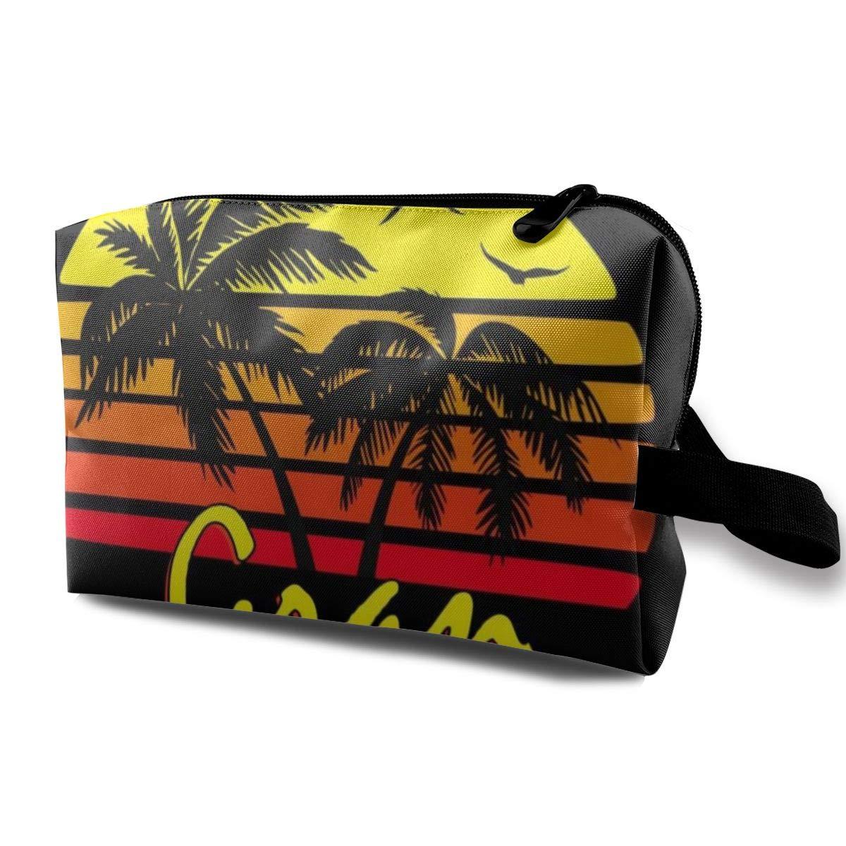 Makeup Bag Cosmetic Pouch Gran Canaria Vintage Sun Multi-Functional Bag Travel Kit Storage Bag