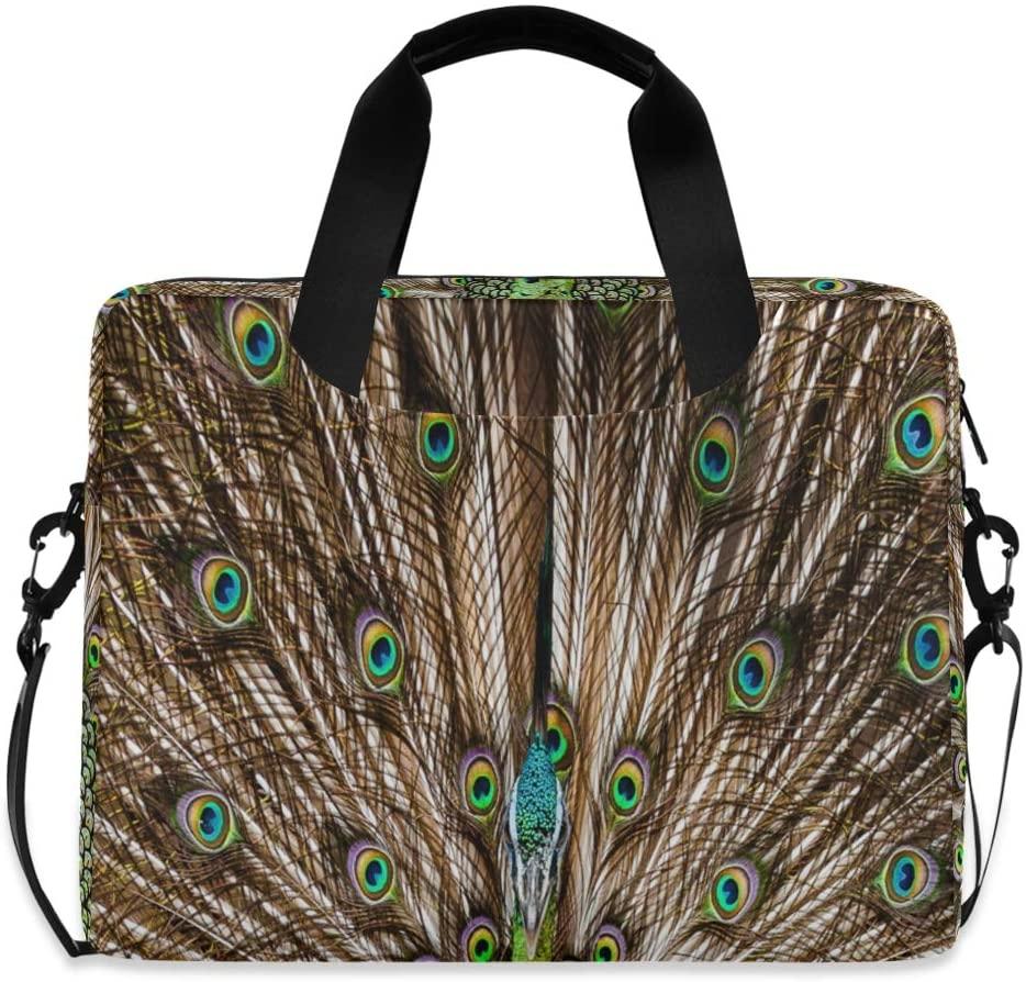 Laptop Bag, The Beautiful Peacock Laptop Briefcase Bag, 16 Inch Slim Laptop Backpack Laptop Case