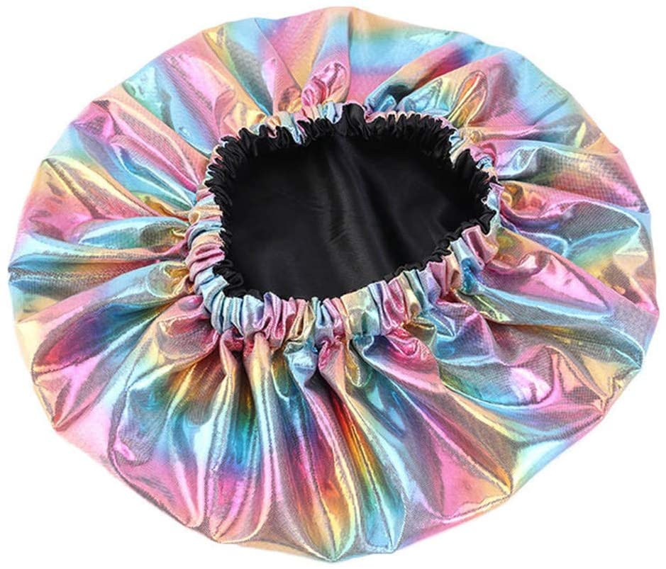 Sleeping Caps Satin Bonnets Hair Loss Cap Night Cap Salon Sleep Bonnet Cap Hat for Women (Pink)