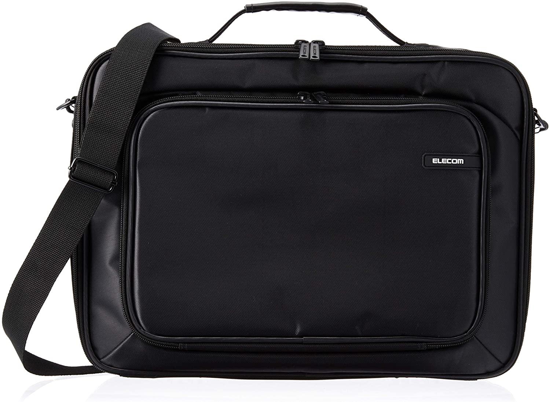 ELECOM Business Briefcase Laptop Carrying Bag Support 16.4 inch Wide/Black/BM-SDHABK