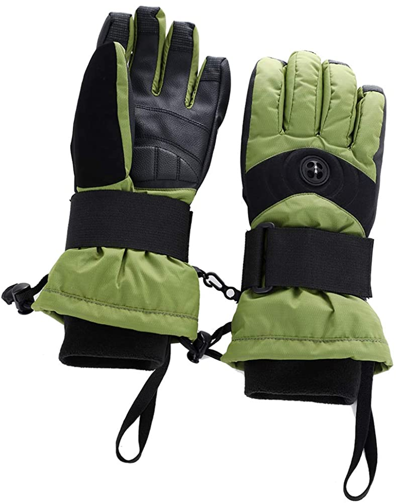 Women Ski Gloves Waterproof and Warm Multi-Function Ski Cycling Snowmobile Motorcycle Gloves