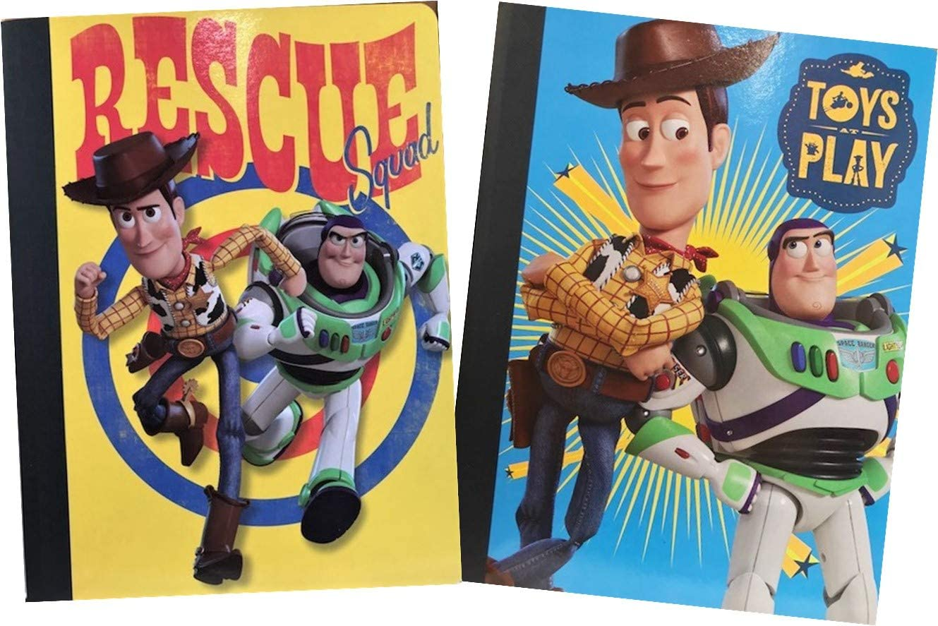 Toy Story School Supplies - Set of TWO Composition Notebooks