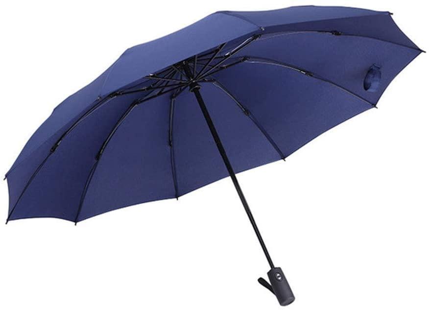 Tcoolets Folding Umbrella Automatic Umbrella Compact Waterproof Lightweight Durable Blue Umbrella Healthy Lifestyle