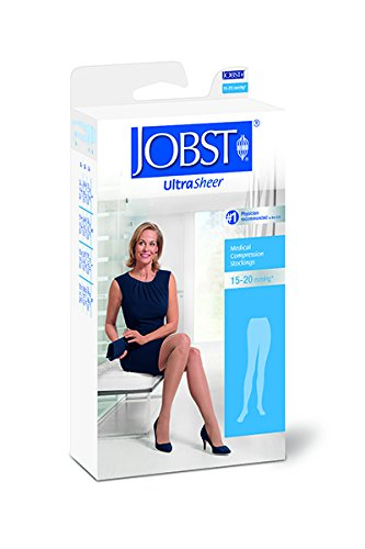 BSN Medical 119353 Jobst Ultra Sheer Compression Stocking, Waist High, 15-20 mmHg, Closed Toe, Small, Natural