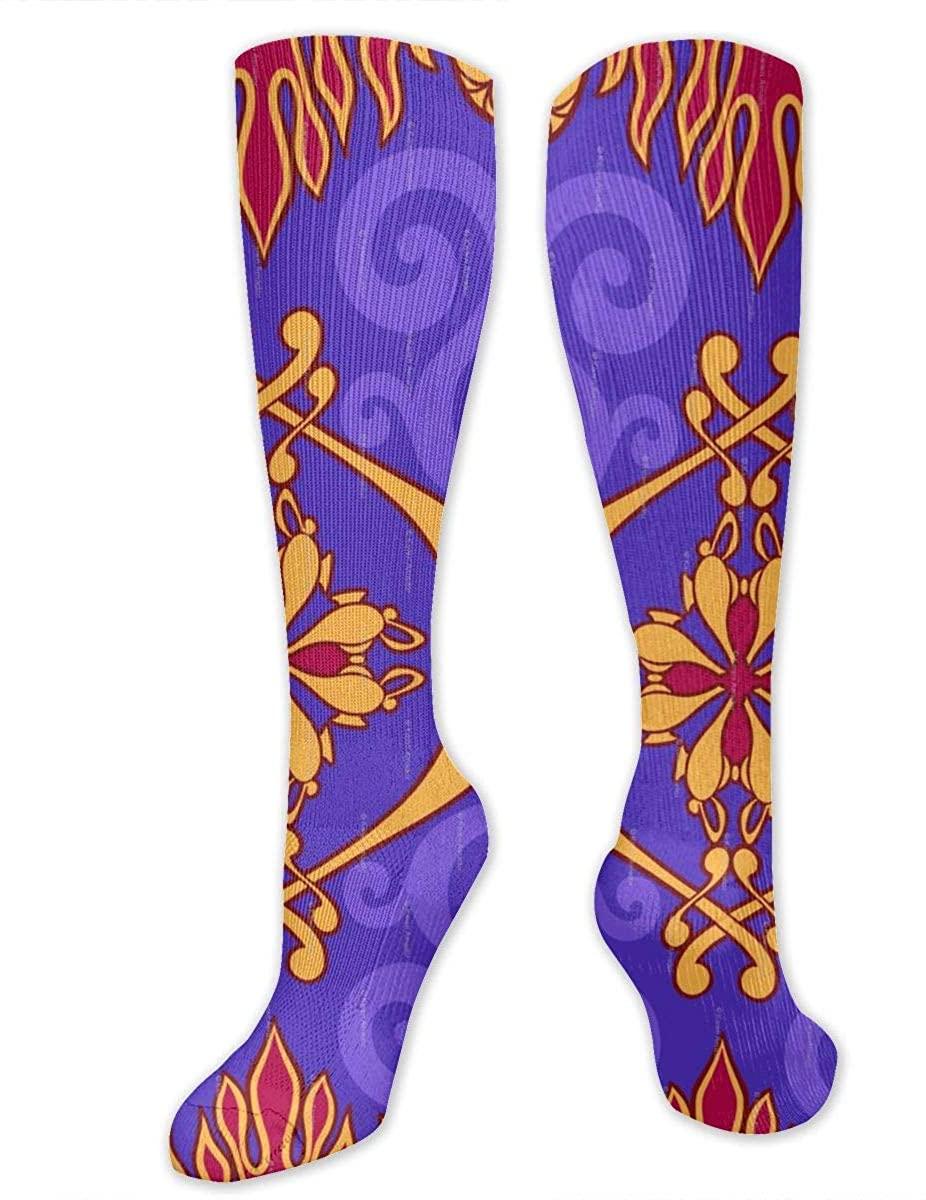 The Carpet Pattern Athletic Socks Thigh Stockings Over Knee Leg High Socks