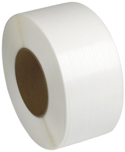 PAC Strapping 5MM.12.6224 5MM Machine Grade White Polypropylene Strapping, 24,000' length