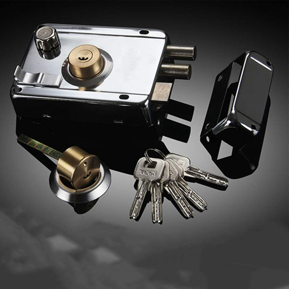 DENPETEC Door Lock Heavy Duty Sth Accessory Professional Bedroom Exterior Stainless Steel Multiple Insurance Home Security Anti-Theft Strong Universal Deadbolt(with Deadbolt)