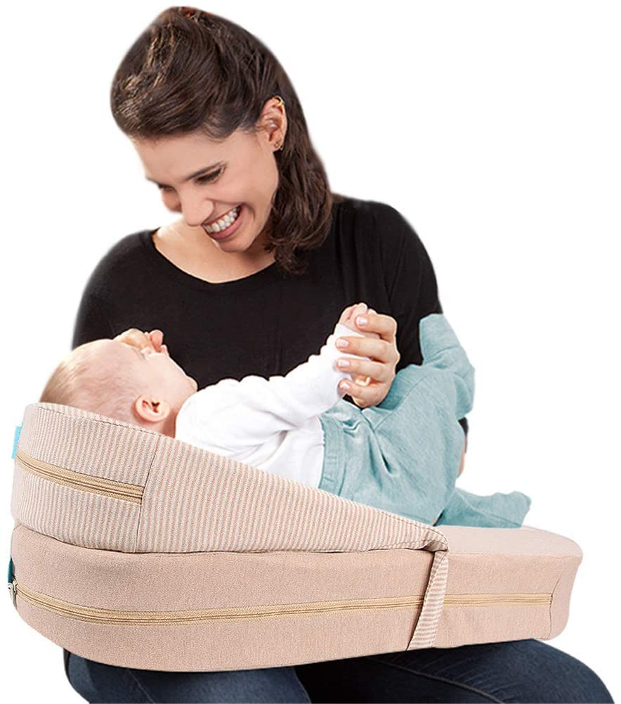XIONGG Nursing Breastfeeding Pillow, Pure Cotton Comfortable Portable Slip Protect Waist Cushion for Mom and Baby