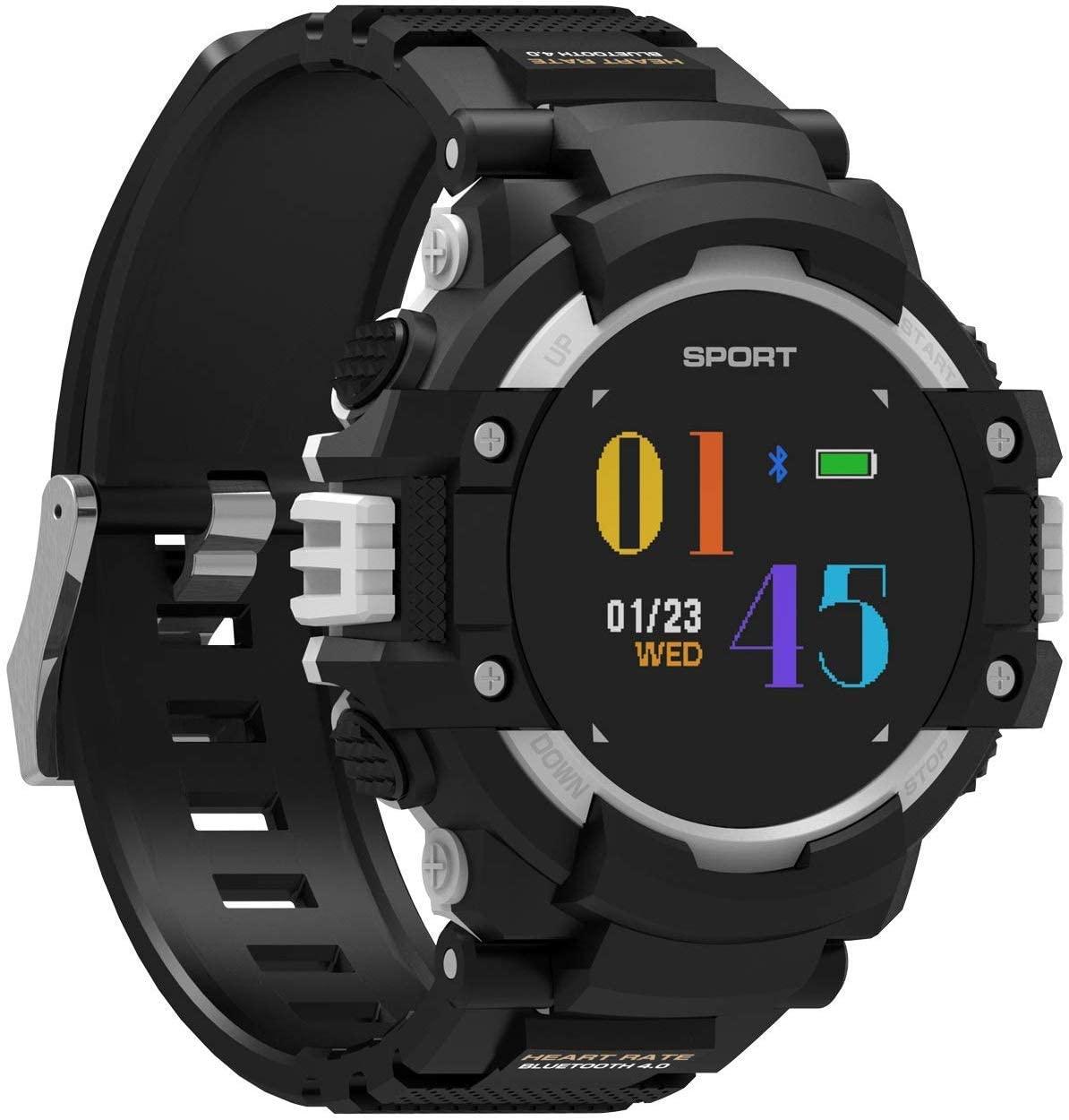 QTQZDD Fitness Tracker, Heart Rate, Temperature, Altitude, Compass, GPS Positioning, IP67 Waterproof Smart Sports Bluetooth Watch