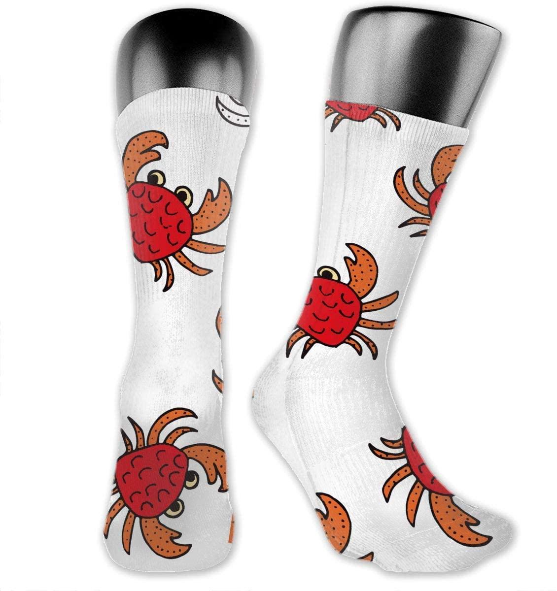 Walking Crab Unisex Outdoor Long Socks Sport Athletic Crew Socks Stockings