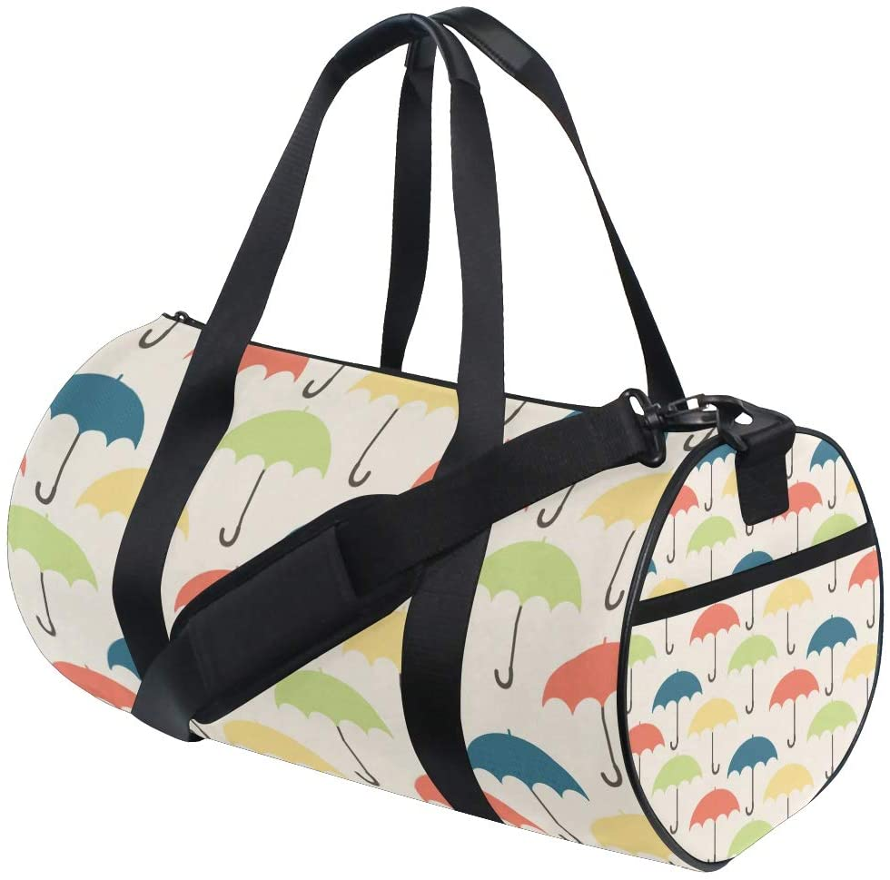 Brighter Coloured Umbrella Fitness Sports Bags Gym Bag Travel Duffel Bag for Mens and Womens