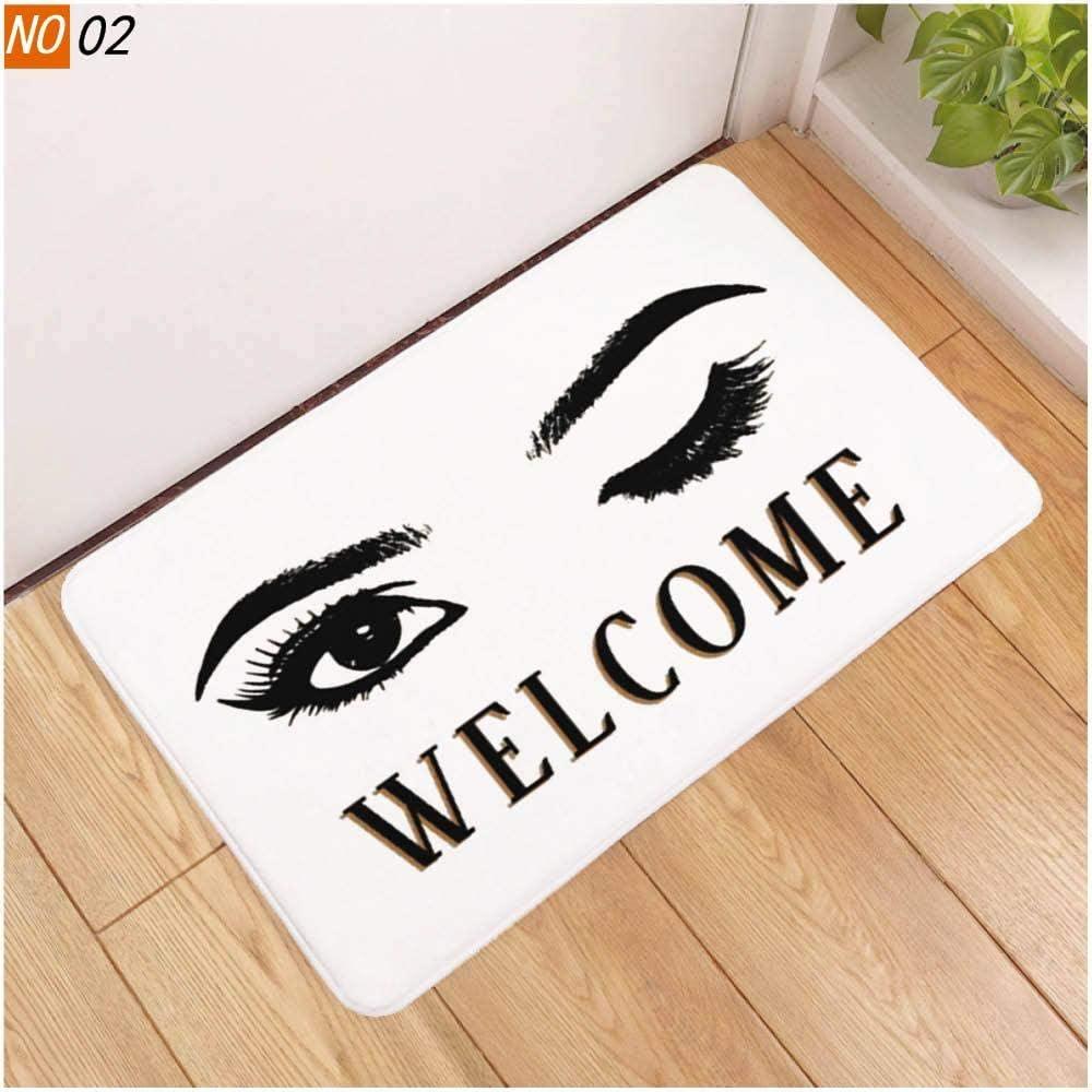 weizhang Sholisa Anti Slip Bath Mat Bathroom Carpet Rug 3D Printed Beauty Eye Eyelash Water Absorption Bathroom Carpet Rug Living Room eyelash5