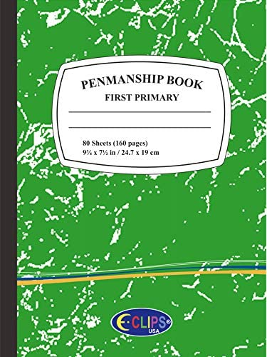 Premium First/Primary Grade Penmanship Book - Green (Units per case: 48)
