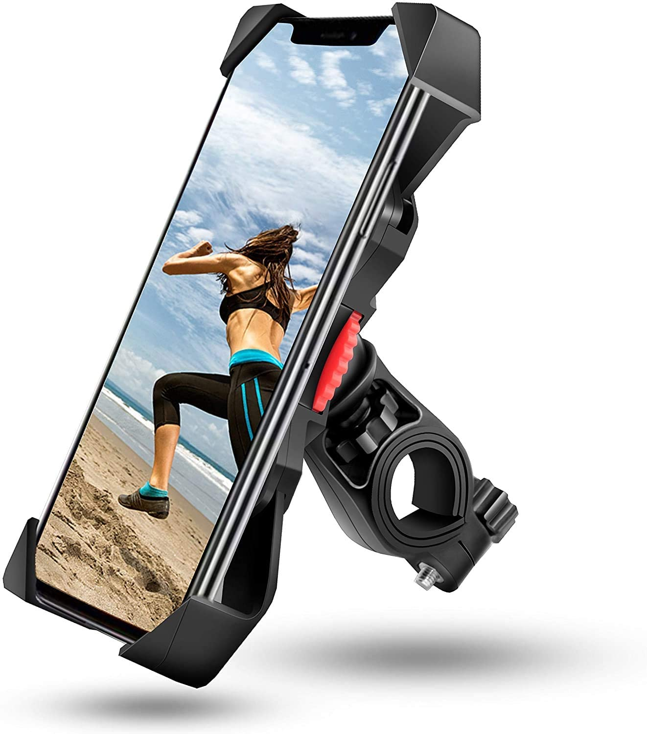 Aikzik Bike Phone Mount, Motorcycle Phone Mount 360° Rotation Bicycle Phone Holder Fits Phone Xs Max XR X 8 7 6 Plus, Samsung S10 9 8, Galaxy S9 8 7, Google Pixel, GPS Other Devices from 3.5