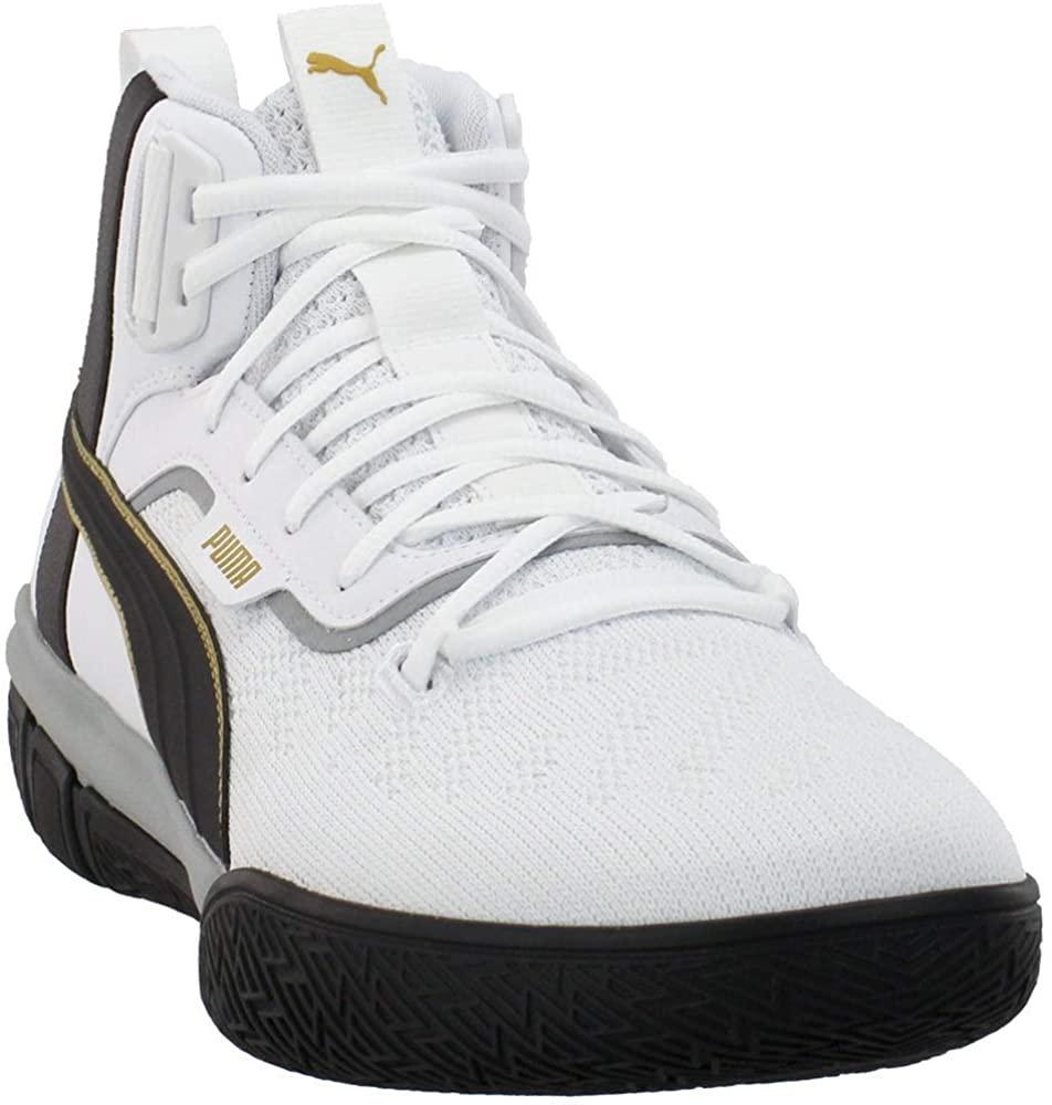 PUMA Mens Legacy 68 White Athletic Basketball Shoes 8.5