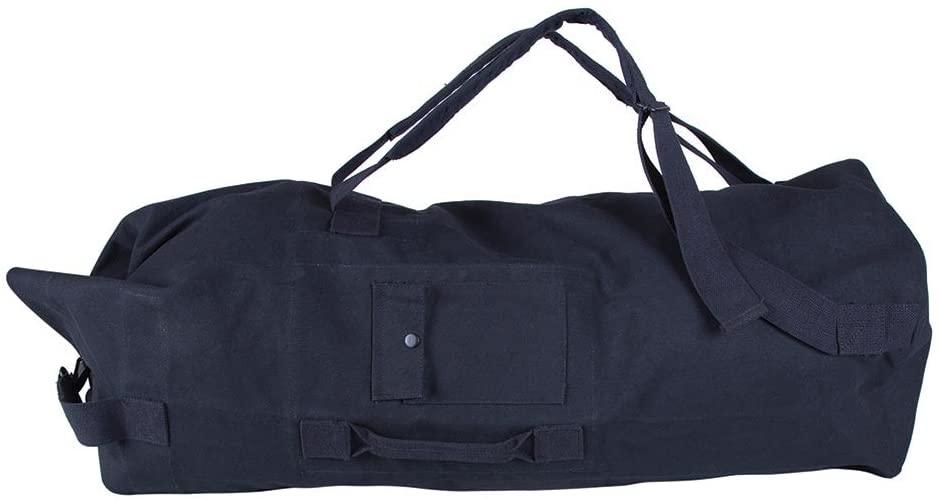 Stansport Double Strap Canvas Bag, 22 x 38-Inch, Black