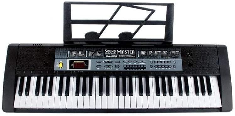 ZXL Digital Piano Childrens Multi-Function Keyboard Beginner Music Training 61-Key Headphones Childrens Learning (Color :) (Color :),Black