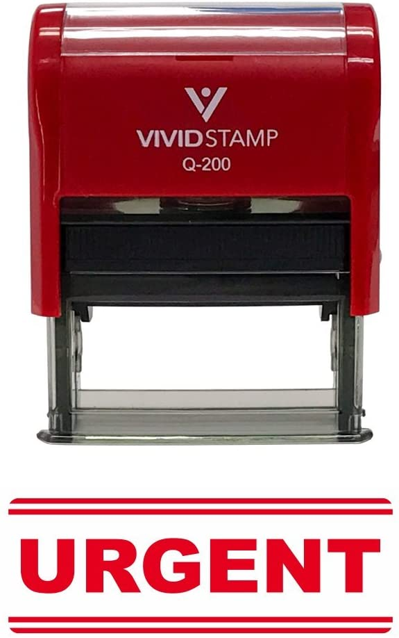 Urgent Office Self-Inking Office Rubber Stamp (Red) - M