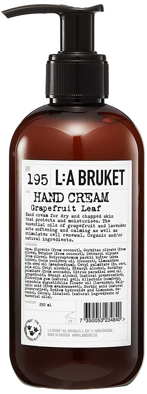 L:A Bruket No. 195 Grapefruit Leaf Hand Cream 250 ml