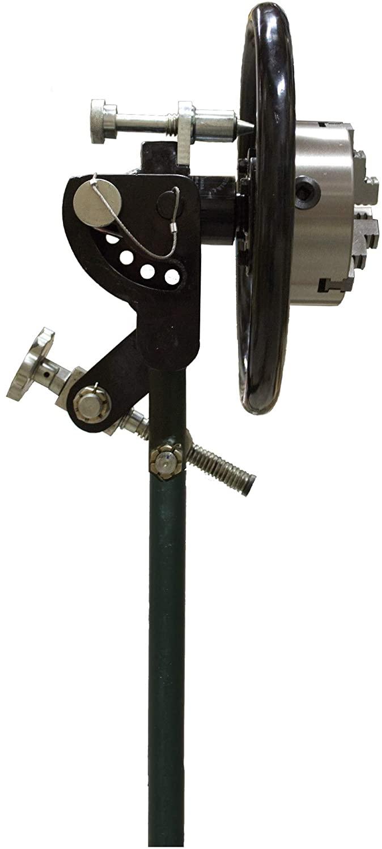 Javelin Industrial Portable 8 inch Chuck Spinner - PCS8-ADJ - Rollout Wheel | Welding Pipe Spinner | Chuck Spinner | Welding Chuck | Mig Tig Stick Welding |