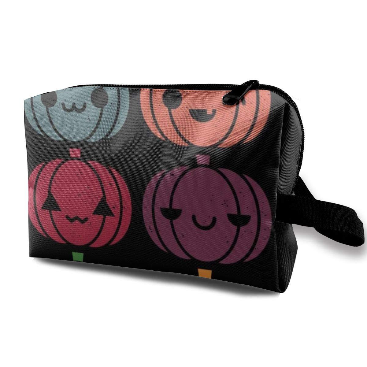Makeup Bag Cosmetic Pouch Cute Pumpkins Multi-Functional Bag Travel Kit Storage Bag