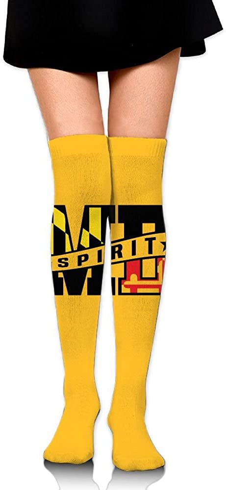 ZXM Crew Stockings MD Flag Athletic Knee High Protective Long Socks For Girls And Womens