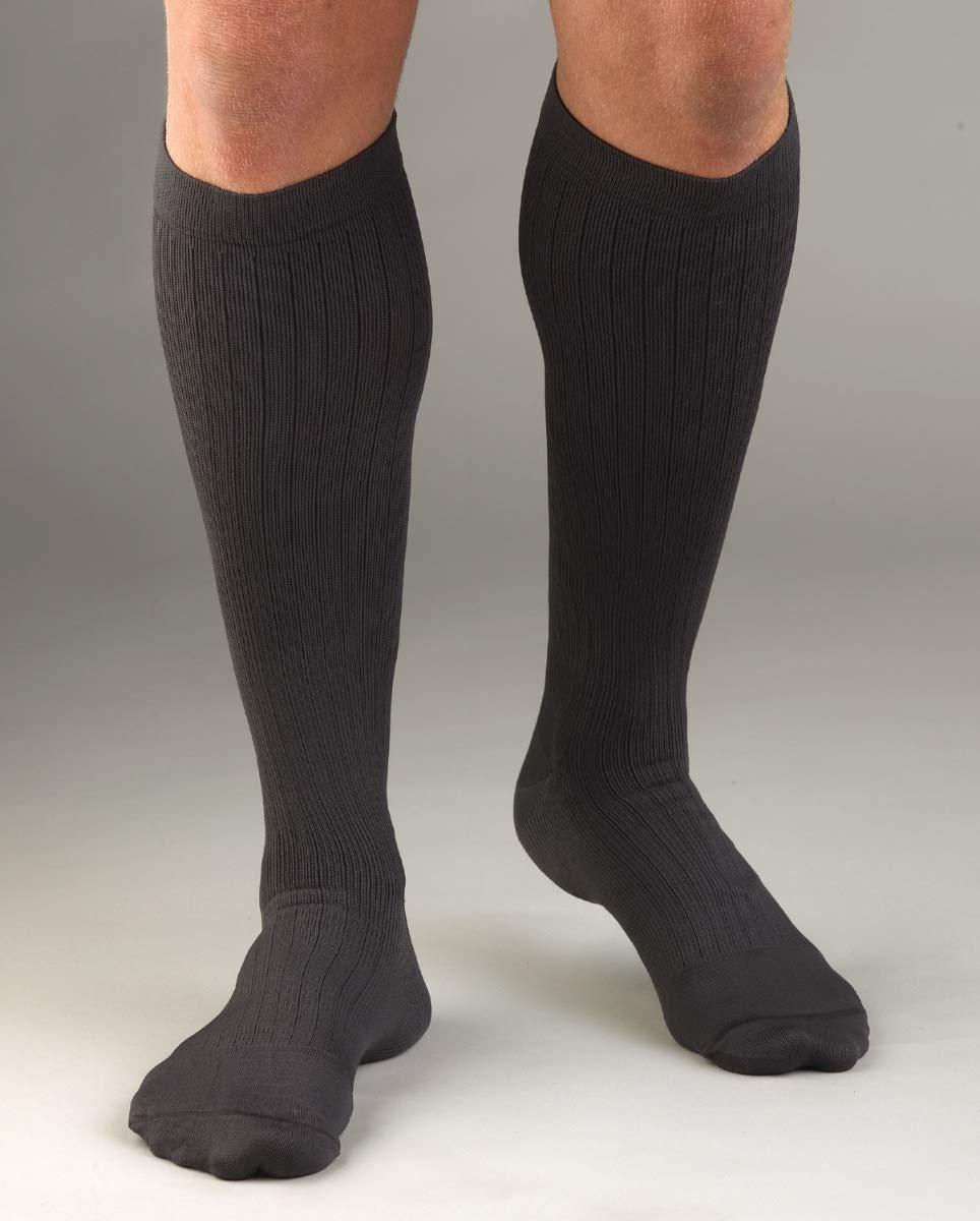 Activa Mens 20-30 mmHg Microfiber Dress Socks, Tan, Large