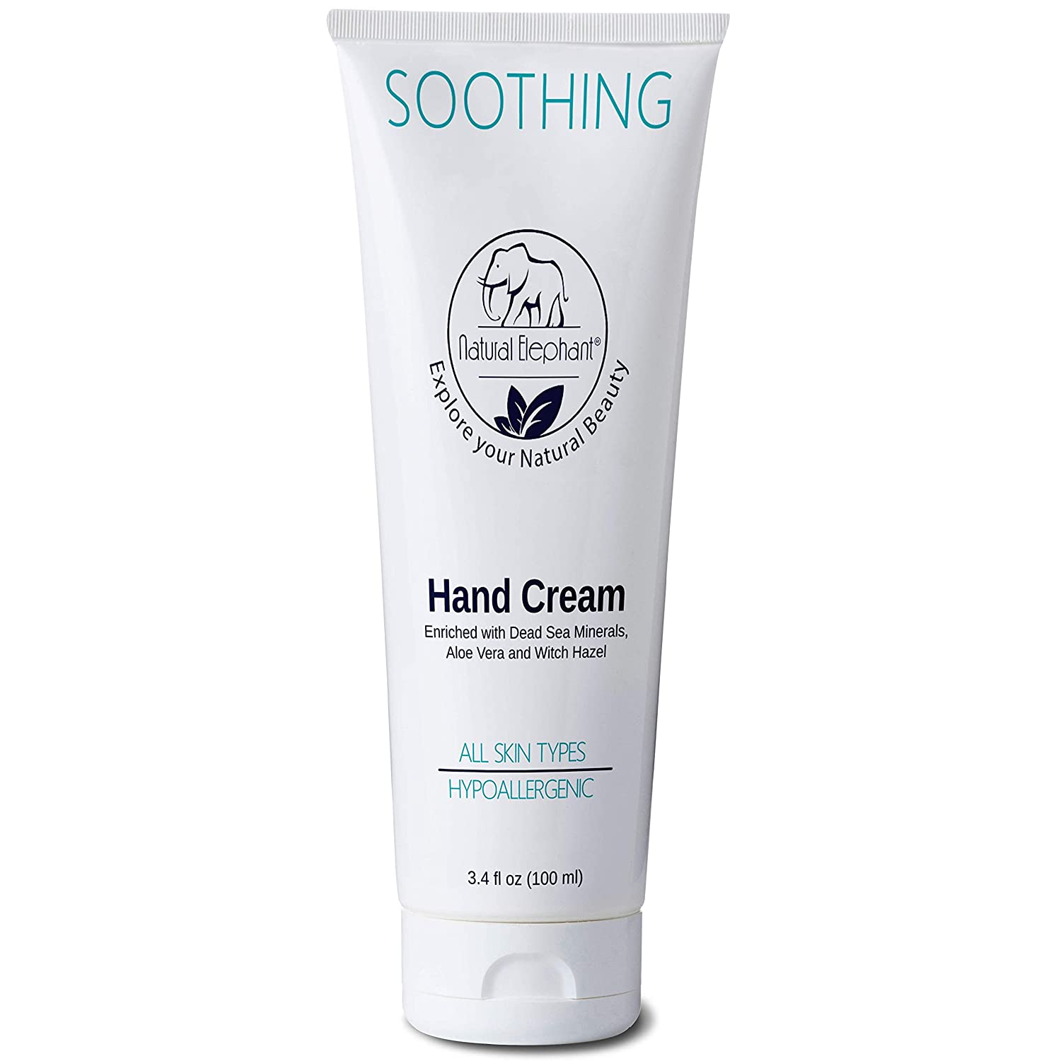 Natural Elephant Soothing Hand Cream with Dead Sea Minerals 3.4 fl oz (100ml)