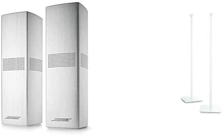 Bose Surround Speakers 700, White & OmniJewel Floor Stand, White