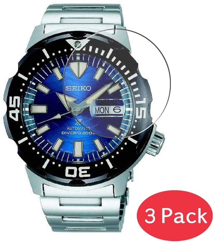 [3 Pack] Synvy Tempered Glass Screen Protector for Seiko SBDY045 9H Protective Screen Film Protectors Smartwatch Smart Watch