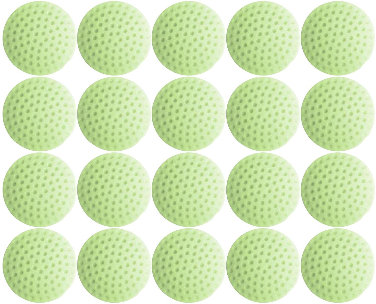 20 Pieces Golf Style Door Stopper Bumper Silicone Wall Protector Knob Guard with Self Adhesive 3M Sticker - Green