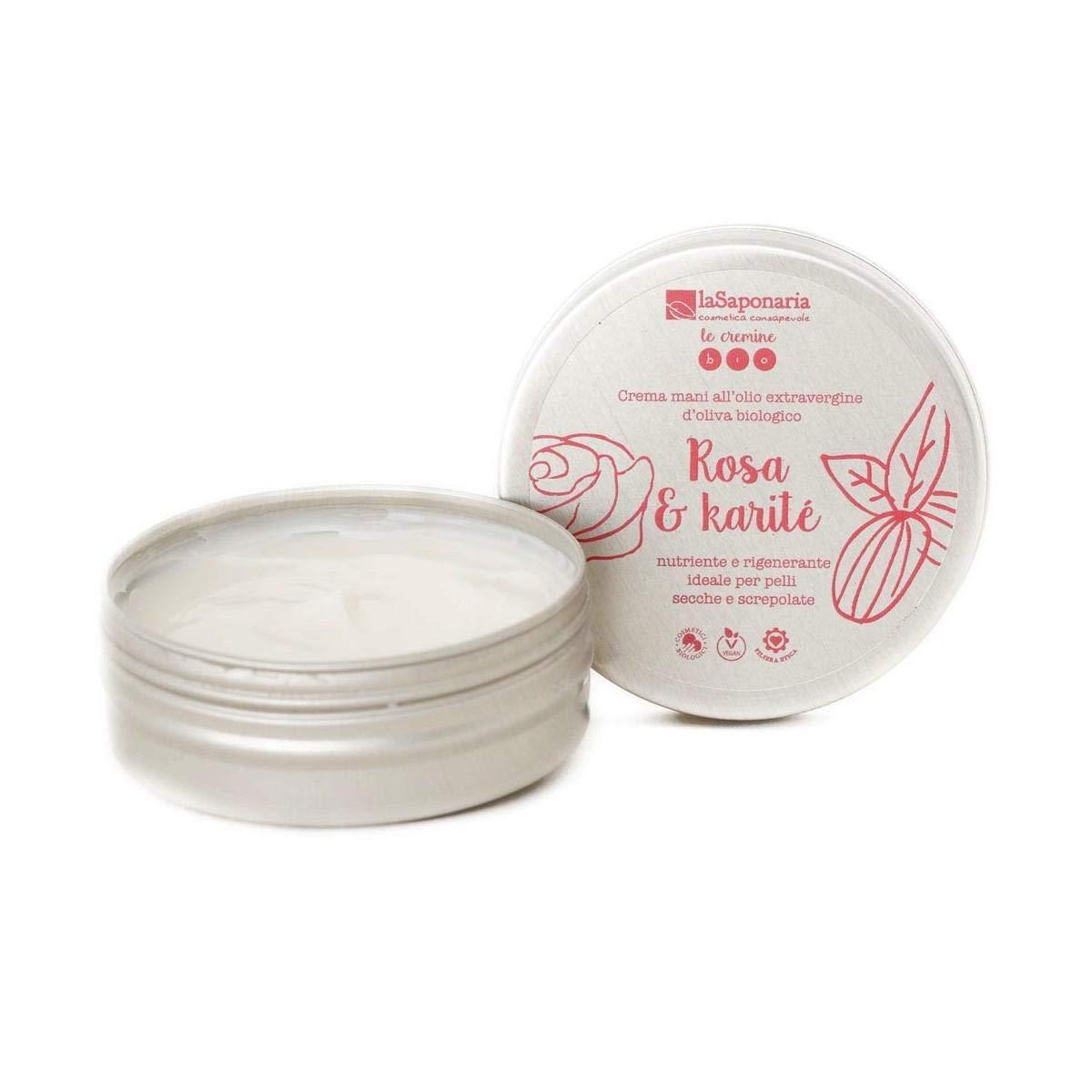 La Saponaria Softening Hand Cream Rose and Shea Butter 60ml