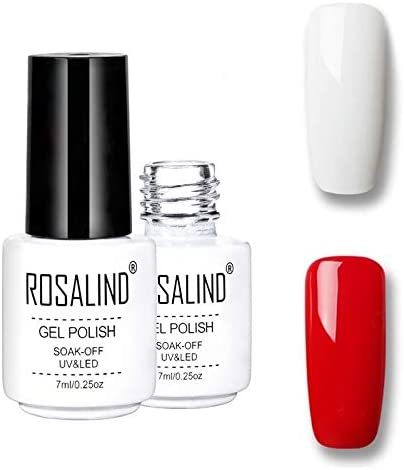 Nail Art Supplies Rosalind Gel Polish Set UV Semi Permanent Primer Top Coat Poly Gel Varnish Nail Art Manicure Gel, Capacity: 7ml 2pcs 35