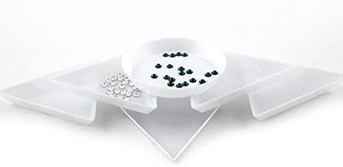 Nail Tools 20pcs DIY Tool Rhinestone Diamond Box Small Receive Plastic Tray/Plate For Nail Art/Mobile Beauty/Jewelry Beads - (Color: Triangle 20pcs)