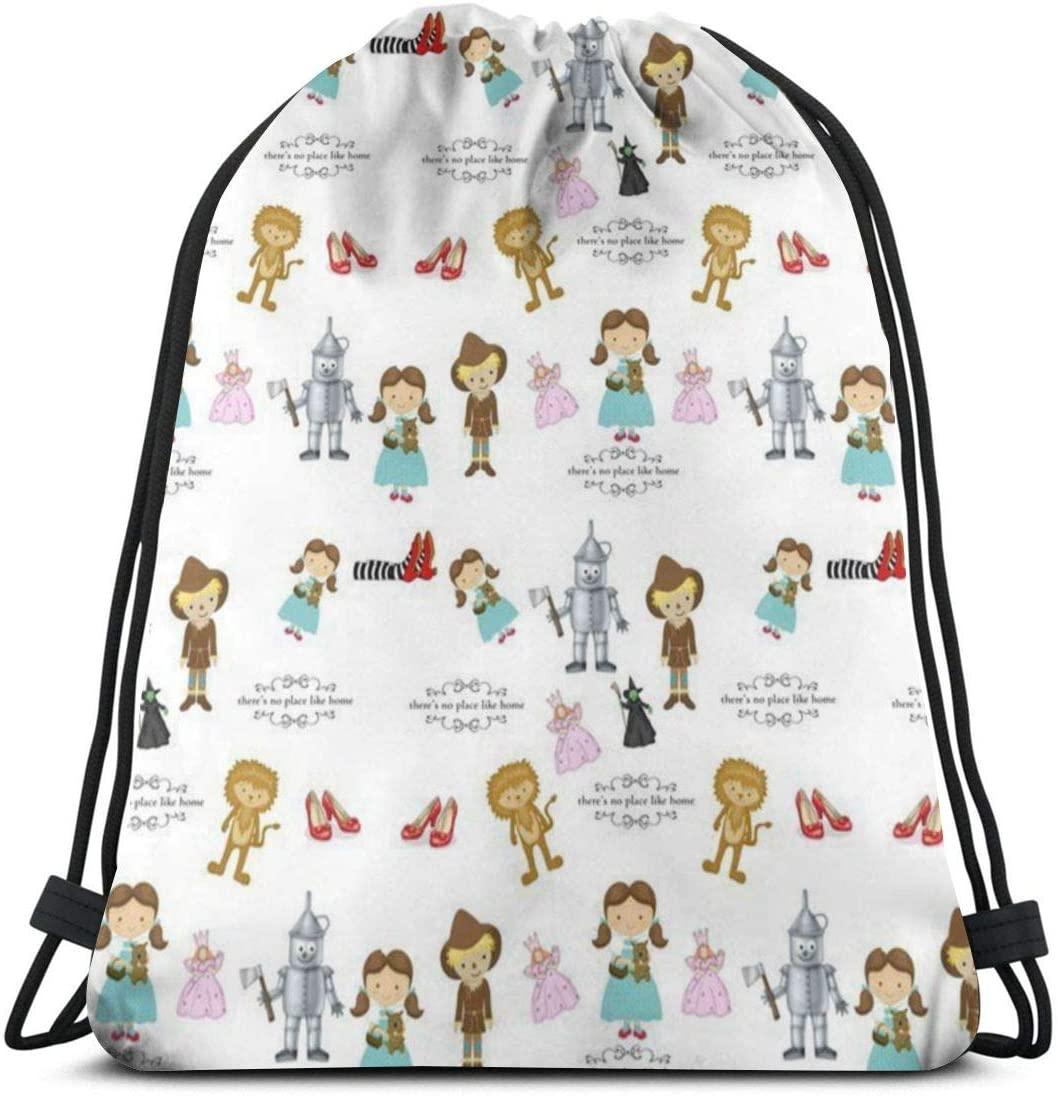 Wizard Of Oz Drawstring Backpack Sports Gym Bag For Women Men Children For Hiking Yoga Swimming Travel Beach