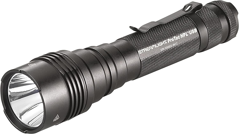 Streamlight 88077 ProTac HPL USB, with USB cord and Box - 1000 Lumens, Black