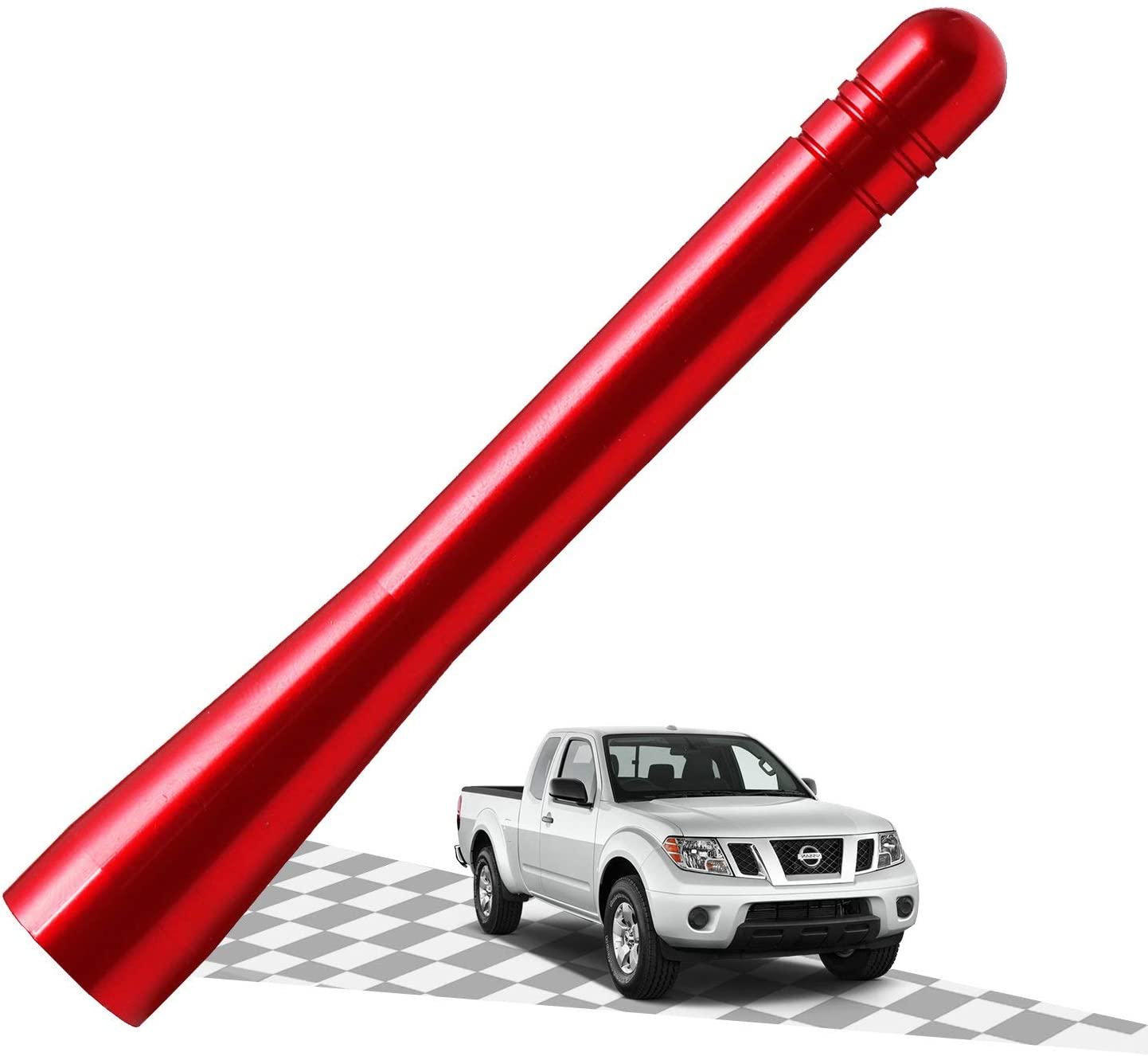Elitezip Replacement Antenna for Mini Cooper 2001-2018 | Optimized AM/FM Reception with Tough Material | 4 Inches - Vermilion Red