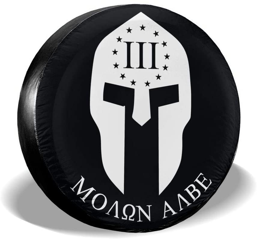 Wehoiweh Molon Labe Spare Wheel Tire Cover Universal Fit for Jeep/Trailer/Rv/SUV