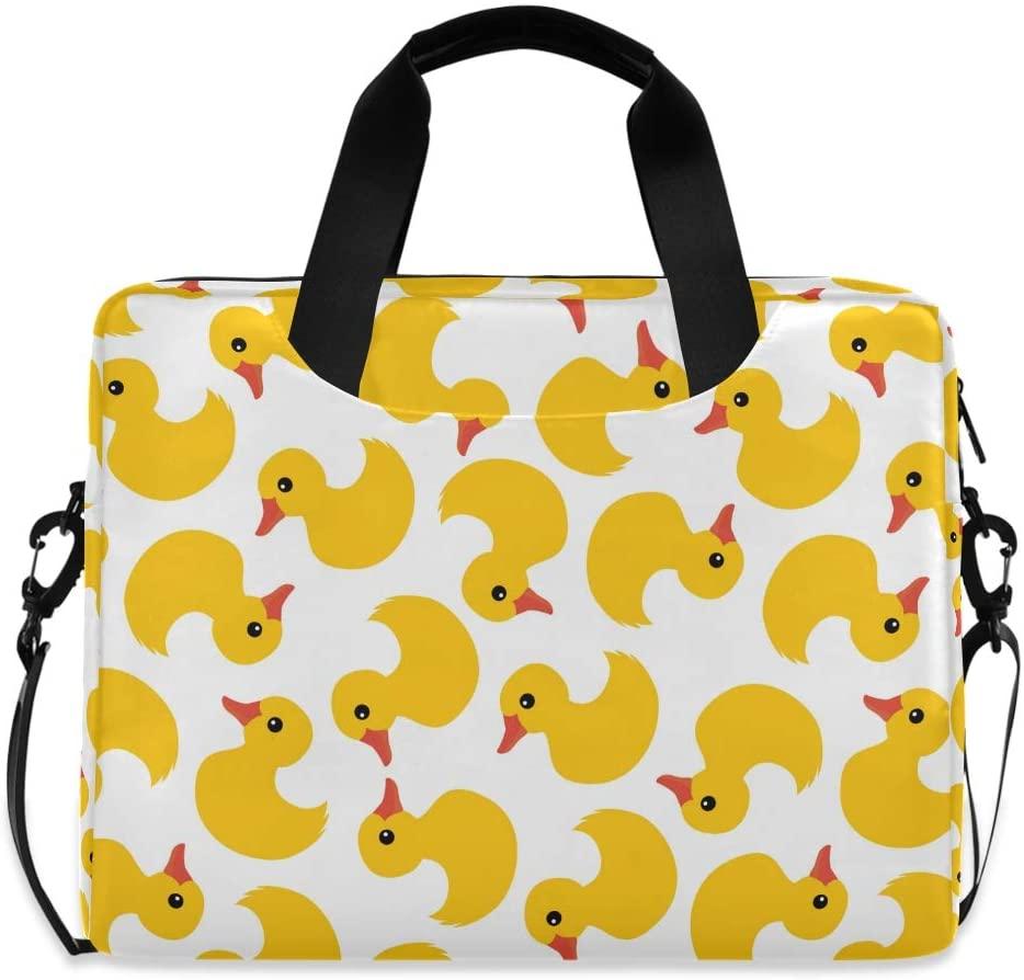 Laptop Bag Briefcase Shoulder Bag - Yellow Rubber Ducks 15.6 Inch Tote Bag Laptop Messenger Shoulder Bag Case Notebook Bag, Great to School, Office