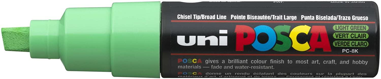 uni-ball Posca PC-8K Broad Chisel Tip Marker - Light Green, Pack of 6