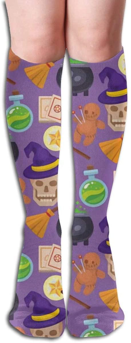 Fantasy Carnival Magical,Design Elastic Blend Long Socks Compression Knee High Socks (50cm) for Sports