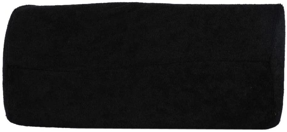 Zerone Hand Cushion 9 Colors Salon Manicure Pillow Detachable Washable Nail Art Soft Sponge Pillow for Nail Care and Trim(Black)