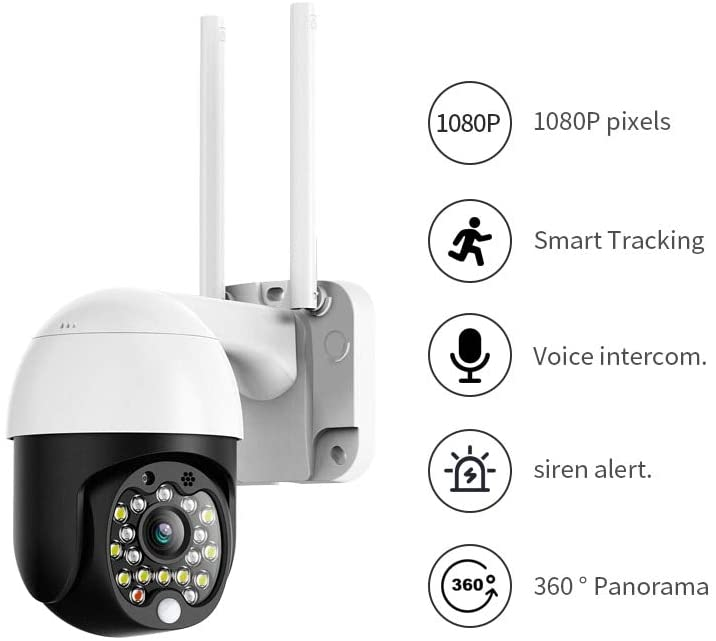 1080P Security Speed Dome Wireless CCTV IP Camera Pan Tilt 4X Zoom Audio IR