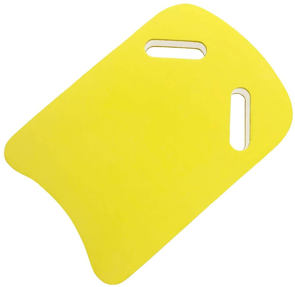MOCEAN Swimming Kickboard Training Aid, U Design Swim Pool Float Floating Hand Board with Integrated Hole Handle for Kids, Yellow