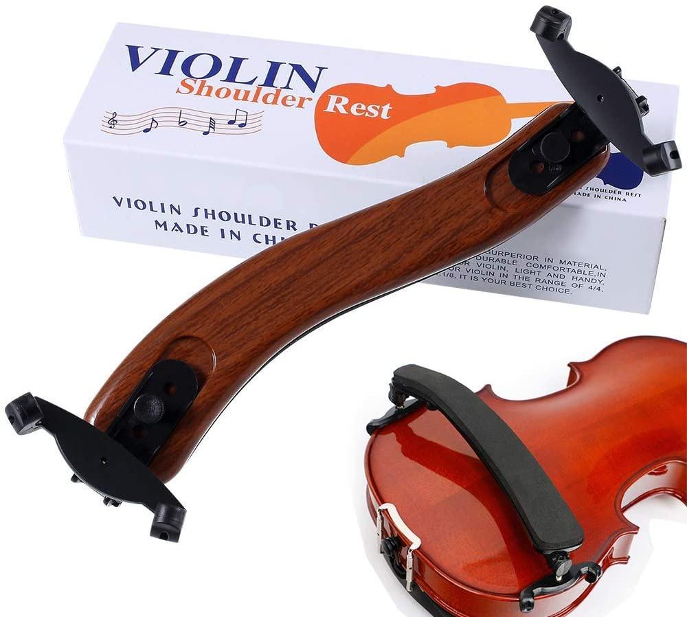 Maple Adjustable Violin Shoulder Rest EVA Foam Padded for 3/4 4/4 Size Violin (3/4 4/4 Violin or 12
