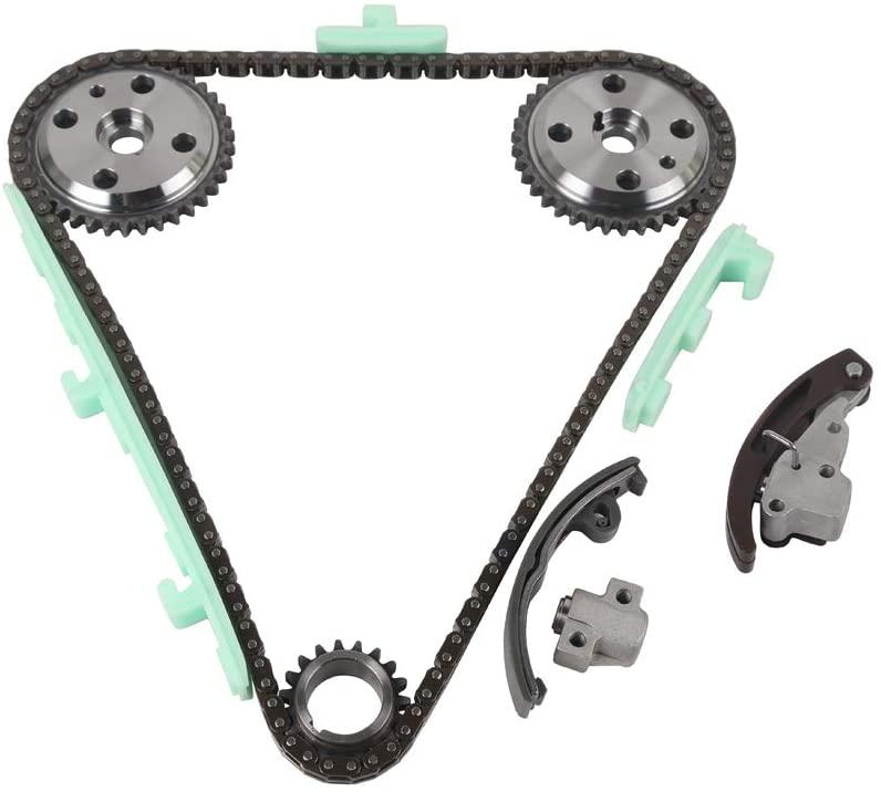 MOCA Timing Chain Kit Compatible with 97-02 for Chevrolet Cavelier & Pontiac Sunfire & 97-01 Pontiac Grand Am & 97-99 for Chevrolet Malibu & 97-98 Oldsmobile Alero 2.4L