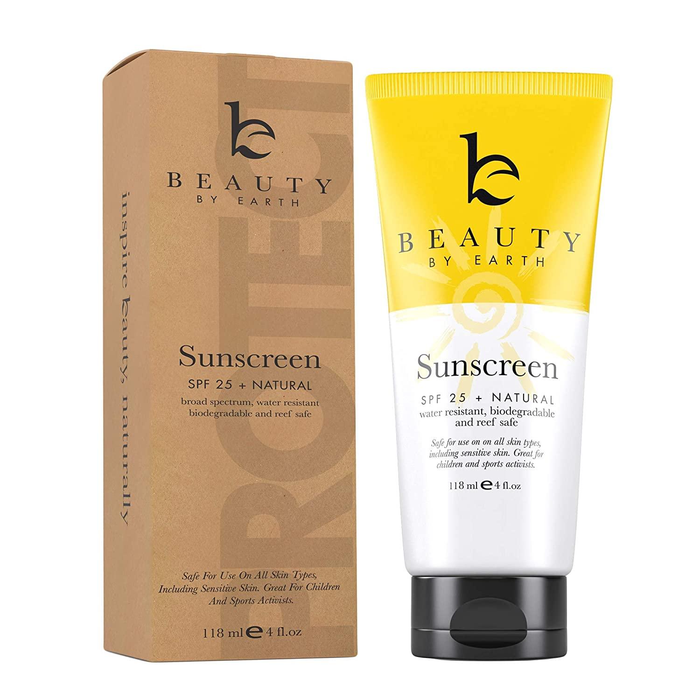 Mineral Sunscreen SPF 25 - Zinc Oxide Sunscreen, Baby Sunscreen, Kids Sunscreen, Reef Safe Sunscreen, Sun Screen With Natural Sunscreen & Organic Sunscreen Lotion Ingredients, Zinc Sunscreen Kids