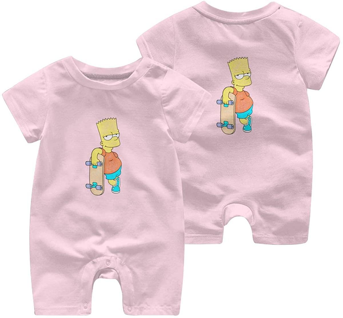 The Simpsons Leisure Baby Short Sleeve Jumpsuit Kid Breathable Baby Pajama Sleeper Cotton Romper