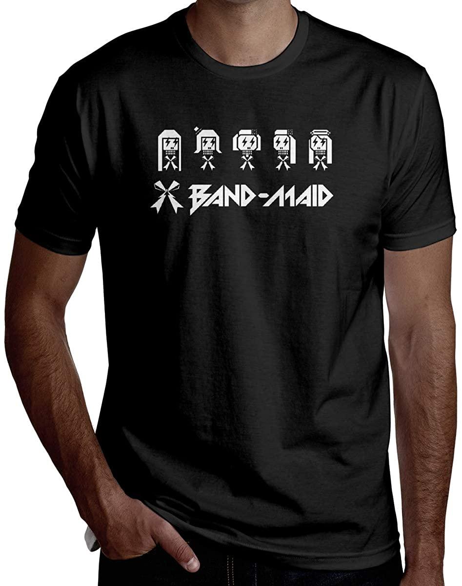 BRADLEY BOWEN Mens Band-Maid Logo Crew Neck Fashion Shirts