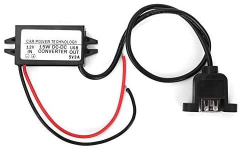 Reducer Voltage Converter, DC 12V to DC 5V Reducer Voltage Regulator Waterproof car Power Module, USB Waterproof Reduction Module